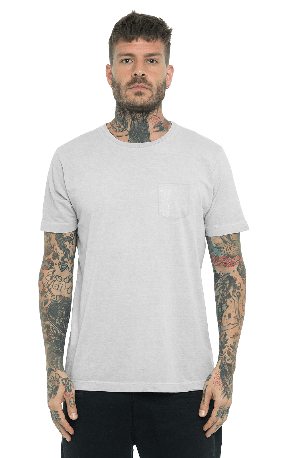 Camiseta_TinturadaBolso_SoftGray_Frente