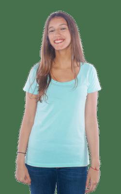 Camiseta_FemininaTinturada_Verde_Frente