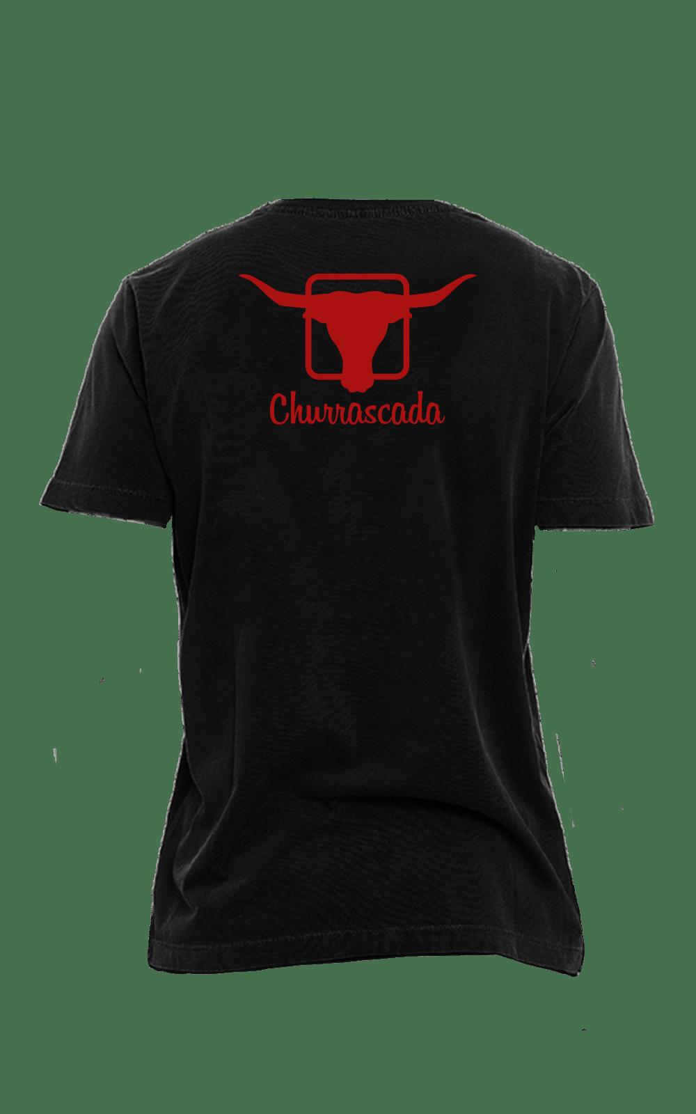 Camiseta_Churrascada_LogoRed_Black_Costas