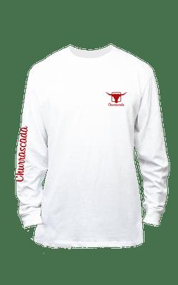 Camiseta_Churrascada_LogoMLRed_White_Frente