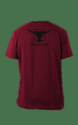 Camiseta_Churrascada_LogoBlack_CranberryHTR_Costas