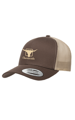 Bones_Flexfit_6606T_Churrascada_LogoWhite_Brown-Tan_Frente