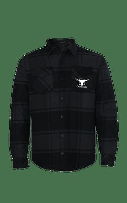 Camisa_8610_Churrascada_LogoWhite_Charcoal_Frente