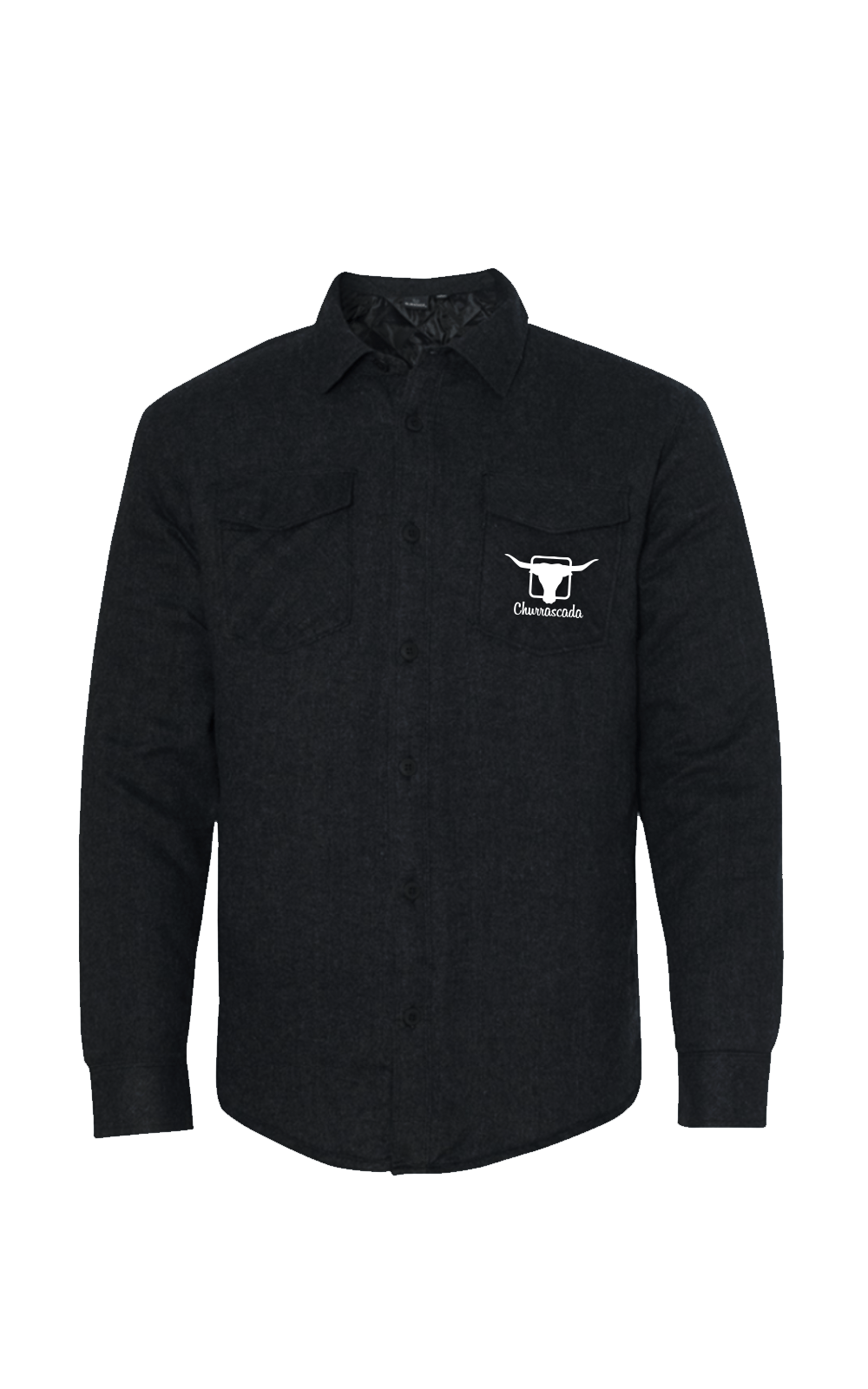 Camisa_8610_Churrascada_LogoWhite_Black_Frente