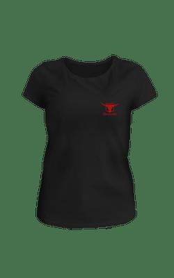 Camiseta_BabyLook_Churrascada_LogoWhite_Black_Frente
